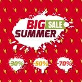 Set of vector summer sale badges royalty free illustration