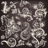 Set of vector swirl  flourishes Royalty Free Stock Image