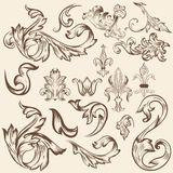 Set of vector swirls for design Royalty Free Stock Photography