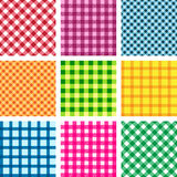 Set of vector tablecloth seamless backgrounds Stock Photography