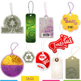 Set of  vector tags Royalty Free Stock Image