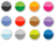 Set of vector tags. Set of 12 empty vector tags for price or another design Stock Image