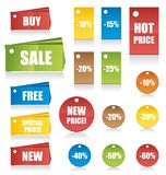 Set of vector tags Stock Photography