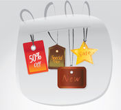 Set of Vector Tags. Collection of  Labels Royalty Free Stock Photography