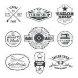 Set of vector tailor emblem, signage. Set of vector vintage tailor emblem, signage Royalty Free Stock Images
