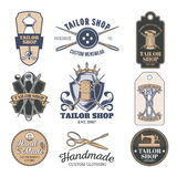 Set of vector tailor emblem, signage Royalty Free Stock Images