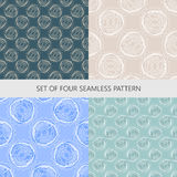 Set of vector techno seamless pattern Royalty Free Stock Images