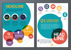 Set of vector template for brochure, flyer, poster, application