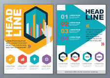 Set of vector template for brochure, flyer, poster, application Royalty Free Stock Photo