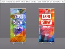 Set of Vector template layout  roll up,brochure,cover,flyer,business presentation,booklet,banner,poster.Abstract  illustration stock illustration