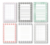 Set of vector template for letter, card or charter with empty space for text Stock Photo