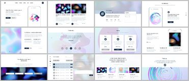 Vector templates with geometric patterns, gradient, fluid shapes for website design, minimal presentations, portfolio. UI, UX, GUI. Set of vector templates with Stock Images