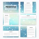 Set of vector templates for multipurpose presentation slides. Brochure, Leaflet, flyer, cover, magazine or annual report Stock Photo