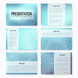 Set of vector templates for multipurpose presentation slides. Brochure, Leaflet, flyer, cover, magazine or annual report Royalty Free Stock Photos