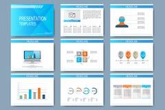 Set of vector templates for multipurpose presentation slides.  Stock Photography