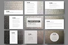Set of 9 vector templates for presentation slides Stock Images