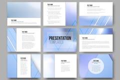 Set of 9 vector templates for presentation slides Stock Photo