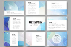 Set of 9 vector templates for presentation slides Stock Photography