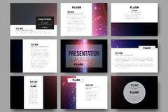 Set of 9 vector templates for presentation slides Royalty Free Stock Photos