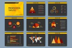 Set of vector templates for presentation slides.  Stock Images