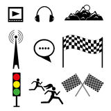 Set of vector templates on sports and rest Stock Image
