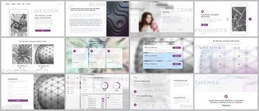 Set of vector templates for website design, minimal presentations, portfolio. Simple elements on white background. Templates for presentation slides, flyer Stock Photography