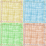 Set of vector textile backgrounds Royalty Free Stock Photo