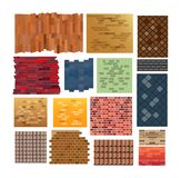 Set of vector textures isolated on white background royalty free illustration