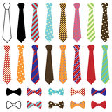 Set of Vector Ties and Bow Ties Stock Photography