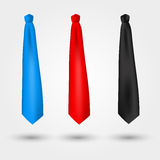 Set of vector ties Royalty Free Stock Images