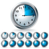 Set of vector timers royalty free illustration