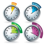 Set of vector timers Royalty Free Stock Photography