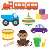 Set of vector toys 2 Stock Illustration