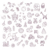 Set of  vector toys Royalty Free Stock Photography