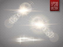 Set of vector transparent sunlight special lens flare light effect. Stock Photo