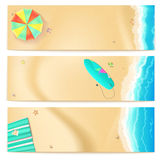 Set of vector travel banners Royalty Free Stock Photography