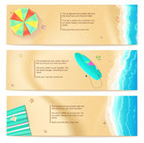Set of vector travel banners Royalty Free Stock Photos