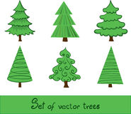 Set of vector trees. Set of  trees. Easy to edit Stock Photo