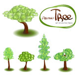 Set of vector trees Stock Photo
