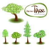 Set of vector trees Stock Photo