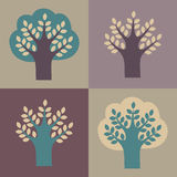 Set of vector trees. royalty free illustration