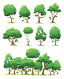 Set of vector trees Royalty Free Stock Image