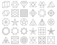 Set of vector trendy geometric icons Royalty Free Stock Photos