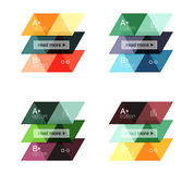 Set of vector triangle geometric infographic Royalty Free Stock Photos