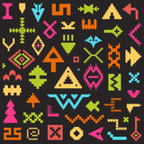 Set of Vector Tribal Elements for Creating your Tribal Patterns Royalty Free Stock Image