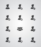 Set of vector user icons. Set of vector flat design user icons Stock Photo