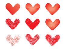 Set of vector valentines Royalty Free Stock Images