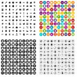 100 set vector variant. 100 set vector in 4 variant for any web design isolated on white Stock Images