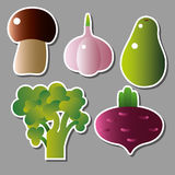 Set of vector vegetables Royalty Free Stock Photography