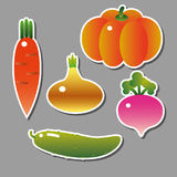 Set of vector vegetables Stock Photo